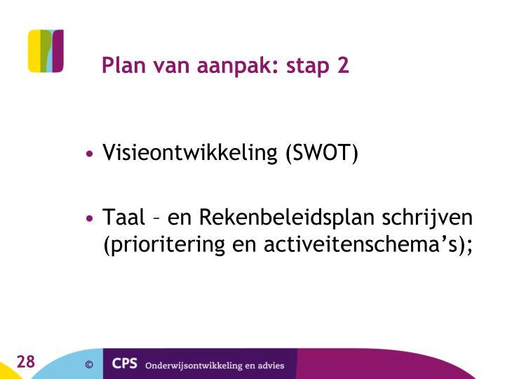 Plan van aanpak: stap 2
