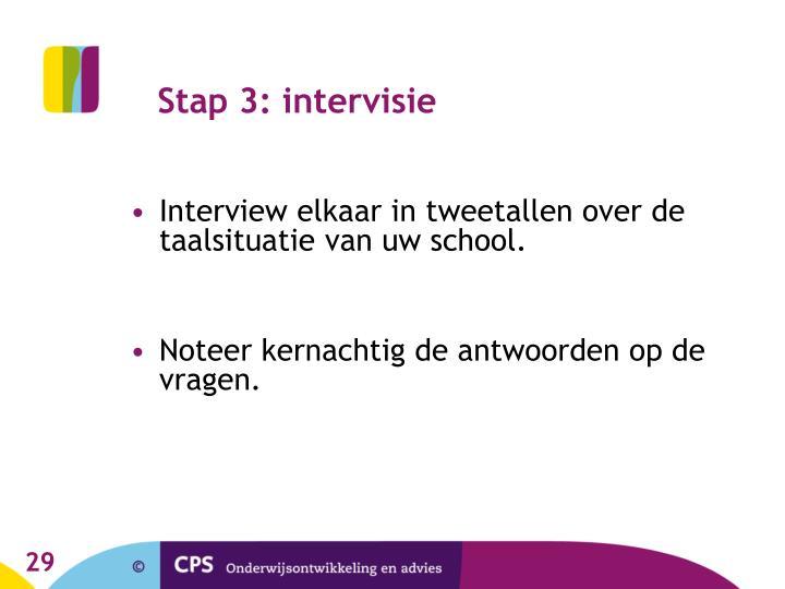 Stap 3: intervisie