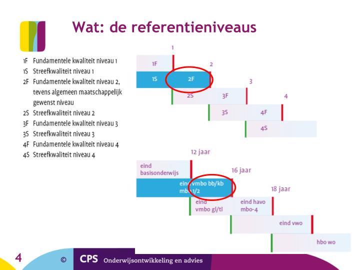 Wat: de referentieniveaus