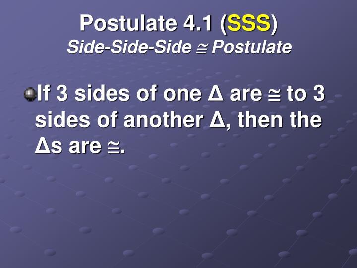 Postulate 4.1 (