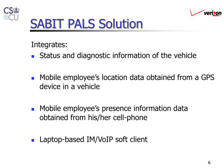 SABIT PALS Solution