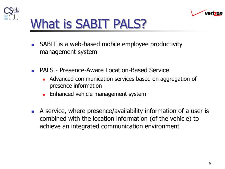 What is SABIT PALS?