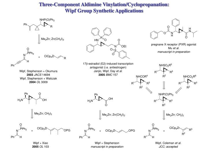 Three-Component Aldimine Vinylation/Cyclopropanation: