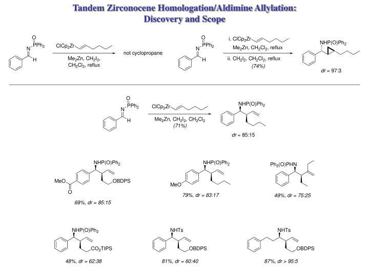 Tandem Zirconocene Homologation/Aldimine Allylation:
