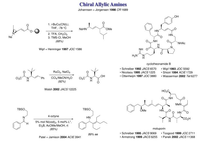 Chiral Allylic Amines