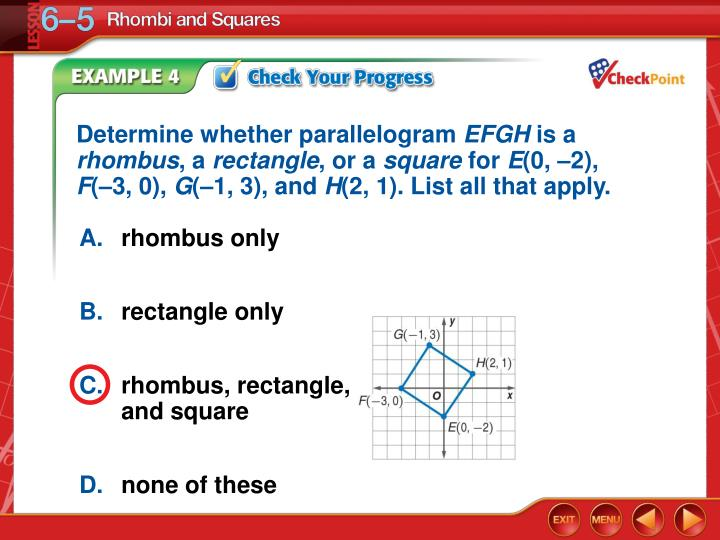 Determine whether parallelogram