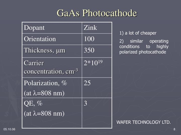 GaAs Photocathode