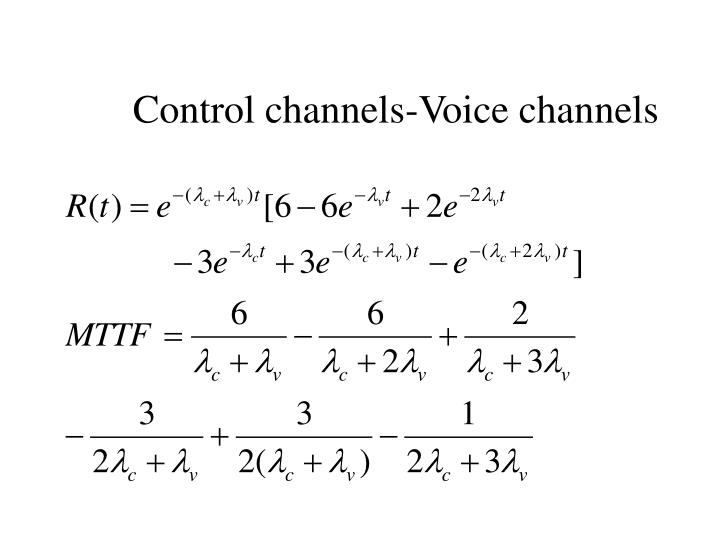 Control channels-Voice channels