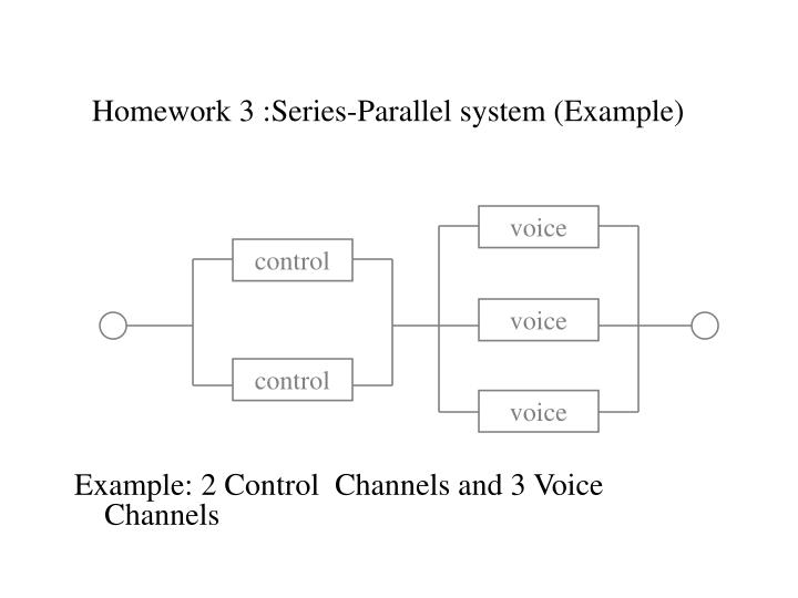 Homework 3 :Series-Parallel system (Example)
