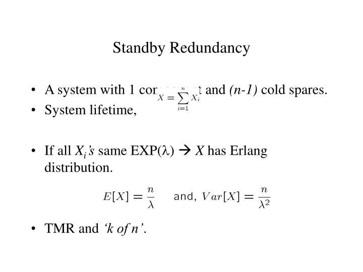 Standby Redundancy