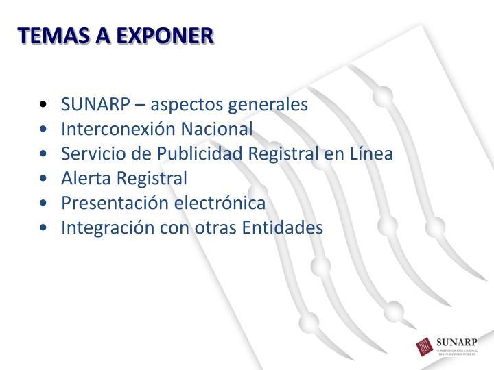 TEMAS A EXPONER