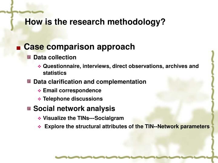 How is the research methodology?