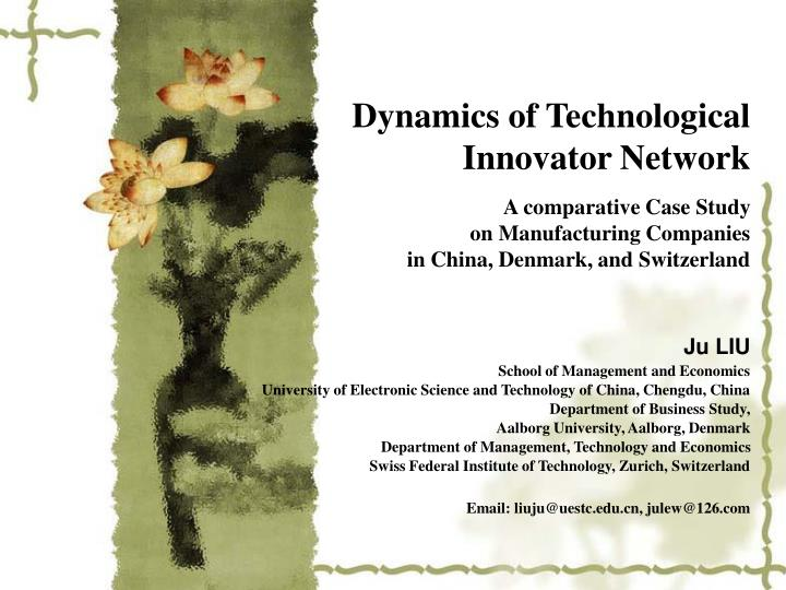 Dynamics of Technological Innovator Network