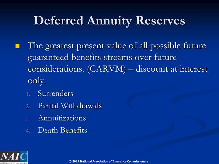 Deferred Annuity Reserves
