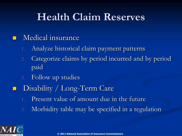 Health Claim Reserves