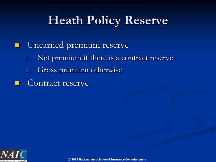 Heath Policy Reserve
