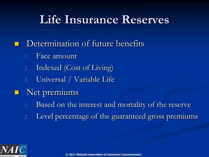 Life Insurance Reserves