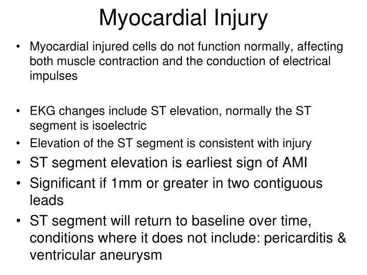 Myocardial Injury