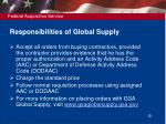 responsibilities of global supply