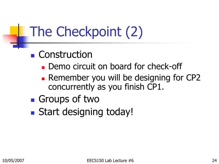 The Checkpoint (2)