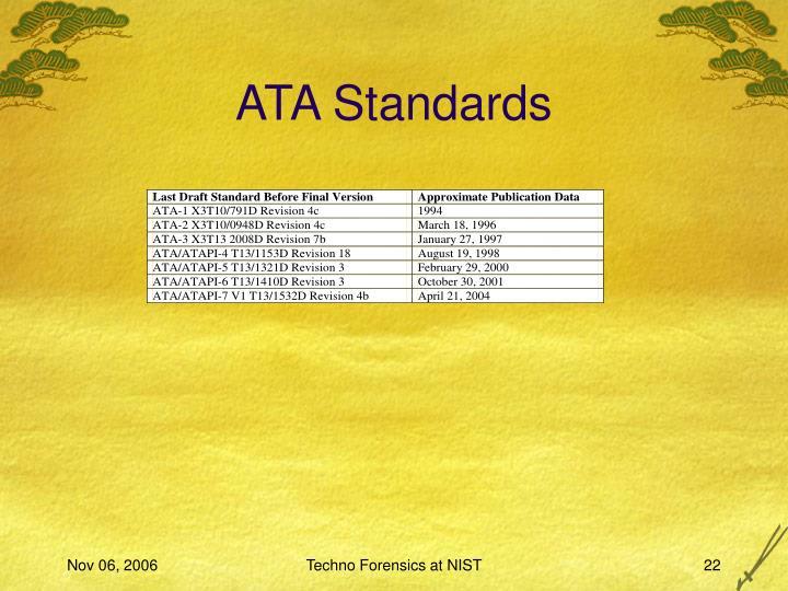 ATA Standards