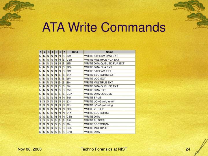 ATA Write Commands