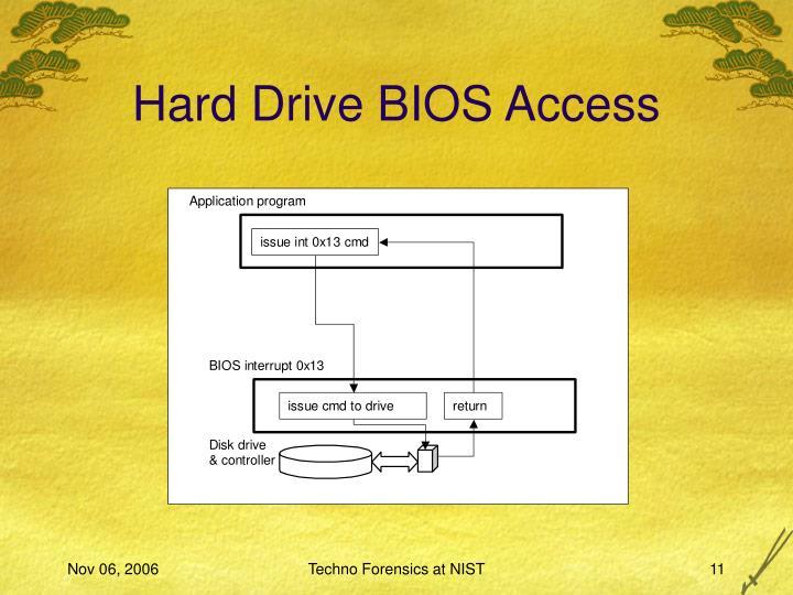Hard Drive BIOS Access