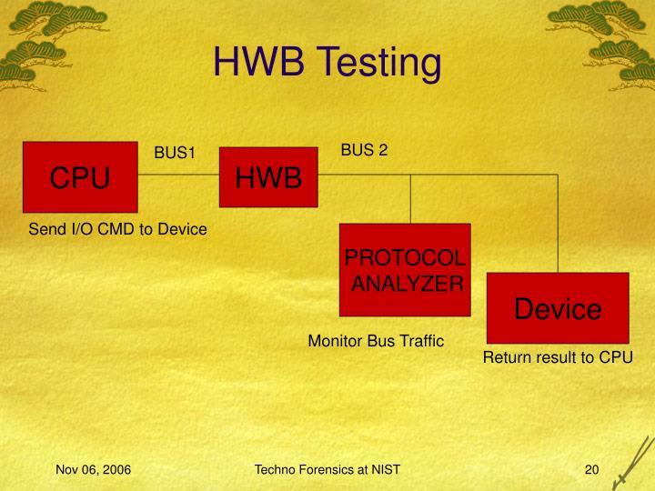 HWB Testing