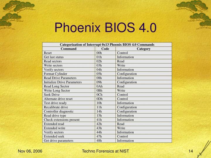 Phoenix BIOS 4.0