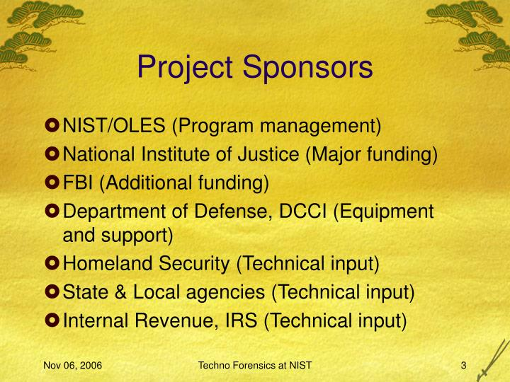 Project Sponsors