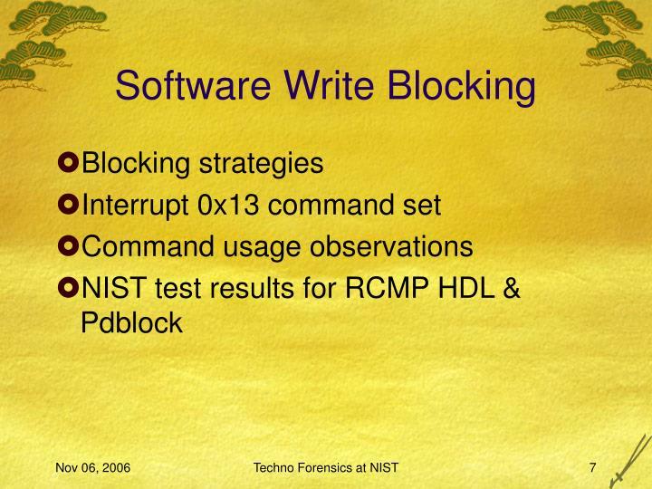 Software Write Blocking