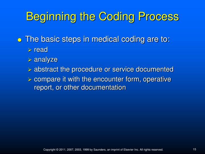 Beginning the Coding Process