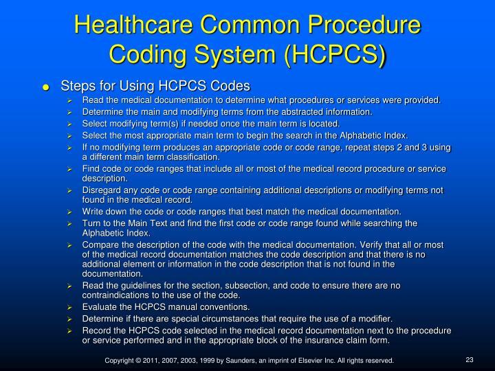 Healthcare Common Procedure