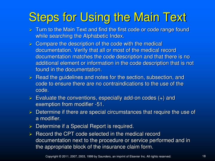 Steps for Using the Main Text