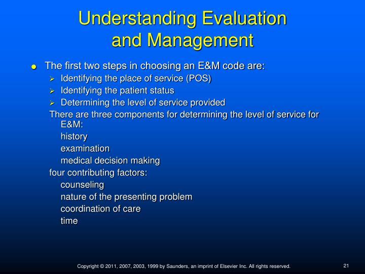 Understanding Evaluation