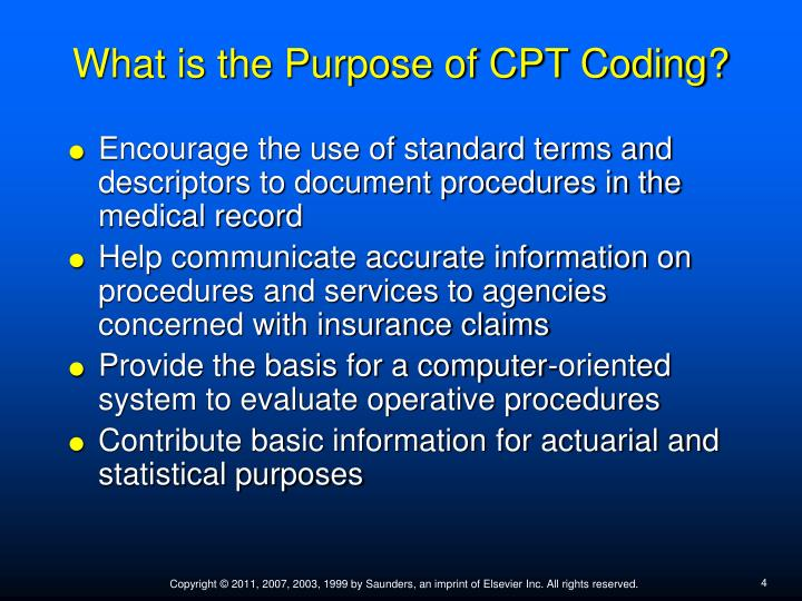 What is the Purpose of CPT Coding?