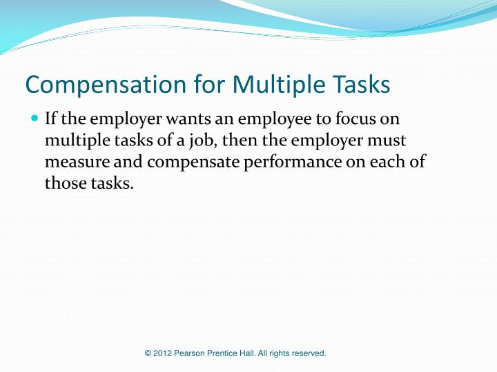 Compensation for Multiple Tasks