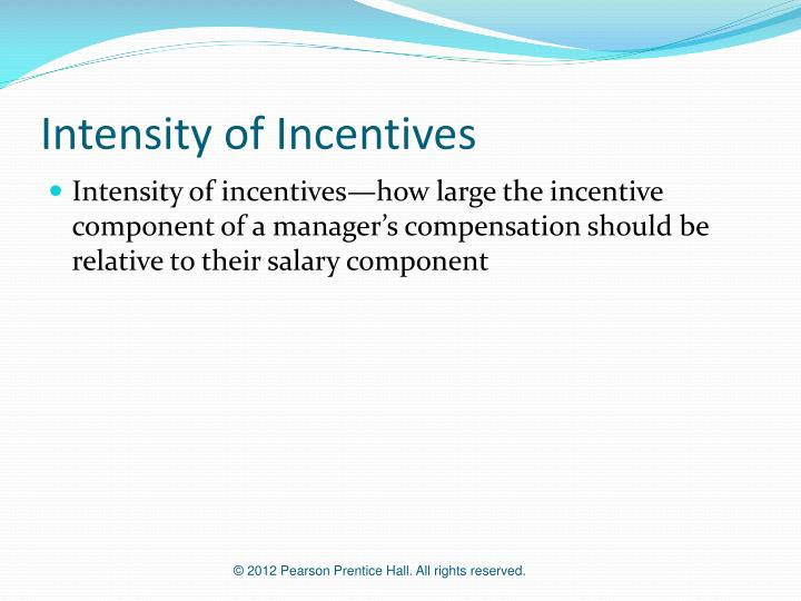 Intensity of Incentives