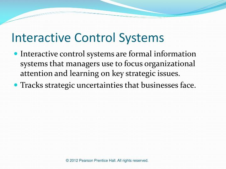 Interactive Control Systems