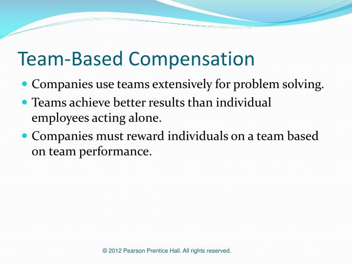 Team-Based Compensation