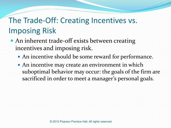 The Trade-Off: Creating Incentives vs. Imposing Risk