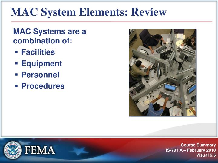 MAC System Elements: Review