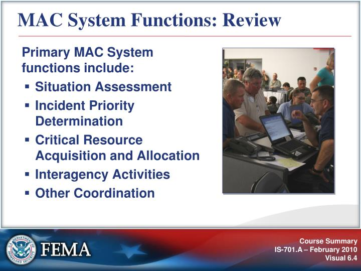 MAC System Functions: Review