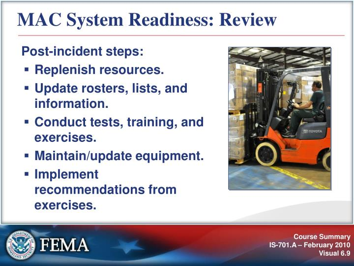 MAC System Readiness: Review
