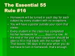the essential 55 rule 16
