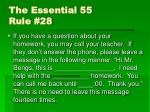 the essential 55 rule 28