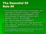 the essential 55 rule 6