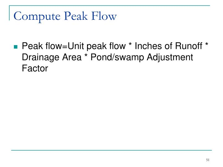 Compute Peak Flow