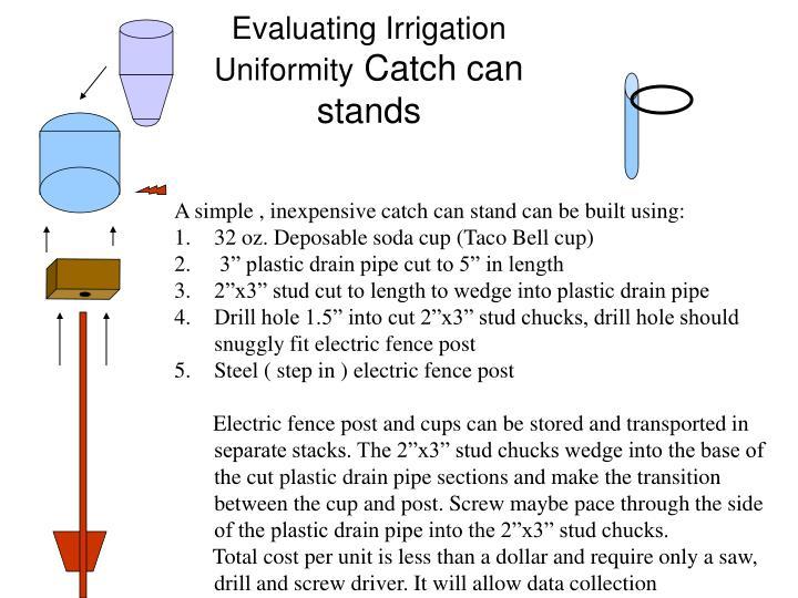 Evaluating Irrigation Uniformity