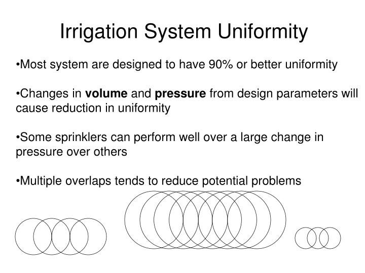 Irrigation System Uniformity
